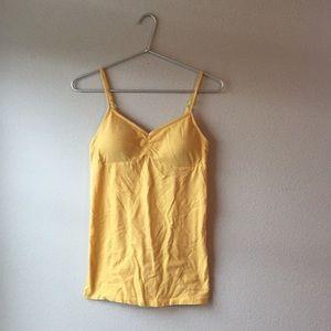 Medium Golden yellow sleeveless top